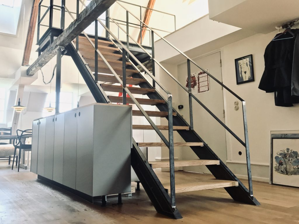 trappe-trappeløsning-håndlavet trappe-ståltrappe